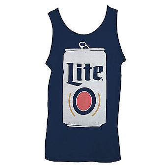 Miller Lite Can Design Men's Blue Tank Top