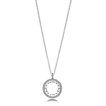 Pandora Silver Woman Pendant Necklace - 397410CZ-60