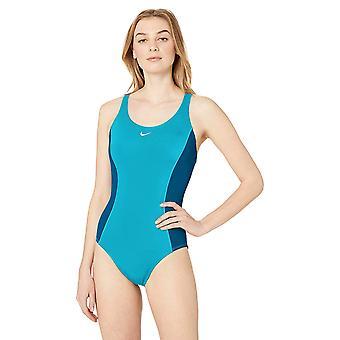 Nike Swim Women's Color Surge Powerback One Piece Swimsuit,, Blue, Size Medium