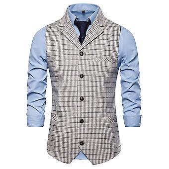 Allthemen lidé ' s Plaid jednopražený jednoduchý módní byznys vesta