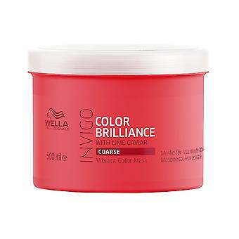 Wella INVIGO Color Brilliance Máscara de Color Vibrante para Cabello Grueso 500ml