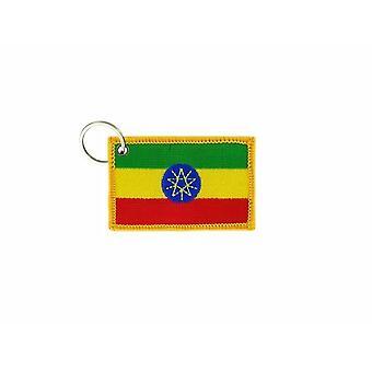 Cle Cles Key Brode Patch Ecusson Badge Flag Ethiopian Ethiopia