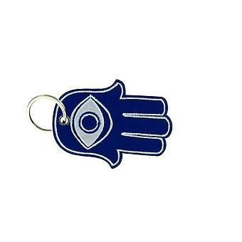 Cle Cles Key Brode Patch Ecusson Main De Fathma Fatima Blue '#147