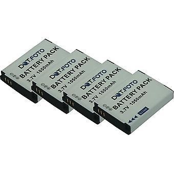 4 x Dot.Foto JVC BN-VH105 Replacement Battery - 3.7v / 1050mAh