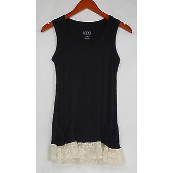 LOGO par Lori Goldstein Femmes apos;s Top XXS Knit Tank Black A271338