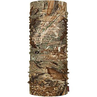 Buff Coolnet UV+ Mossy Oak Neck Warmer in Duck Blind