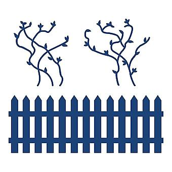 Fence & Vines: Tattered Lace Metal Die Paper Card Cutting Stephanie Weightman
