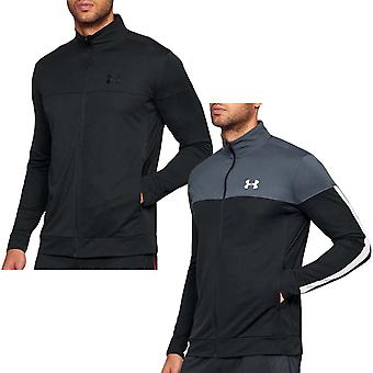 Under Armour UA Mens Sportstyle Pique Zip Up Long Sleeve Fitted Training Jacket