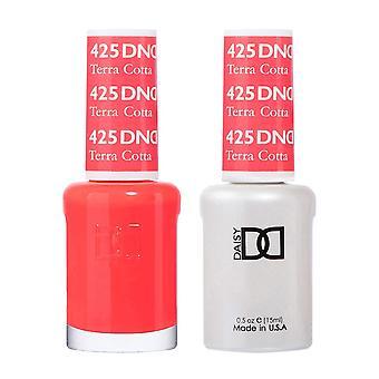 Dnd Duo Gel & Nail Polish Set - Terra Cotta 425 - 2x15ml