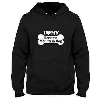 Black man hoodie fun1993 i love my bermese mountain dog