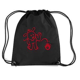 Black backpack fun14333 firefighter puppy