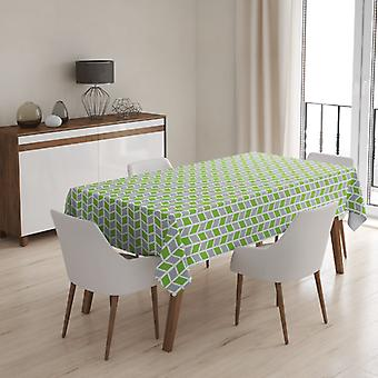 Meesoz Tablecloth - Geometry Green