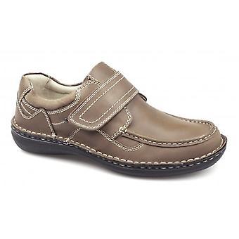 Dr Keller Pluto mens leather touch Fasten schoenen Tan