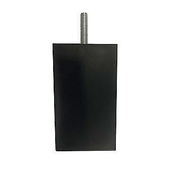 Schwarze Quadrate Kunststoff Möbel bein 10 cm (M8)