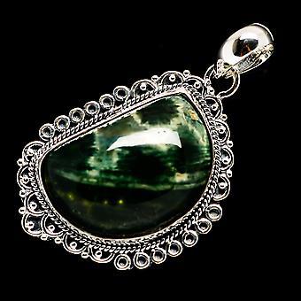 المحيط جاسبر قلادة 1 7/8 & quot; (925 الجنيه الاسترليني الفضة) - اليدوية بوهو خمر مجوهرات PD709645