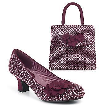 Ruby shoo kvinnor ' s Petra Mid Heel domstol sko pumpar & matchande Bari väska
