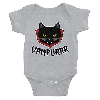 Vampurrr Funny Halloween Cute Graphic Design Baby Bodysuit Gift Grey