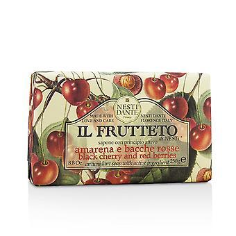 Nesti Dante Il Frutteto antioxidante jabón - cereza negra y frutos rojos 250 8,8 gr