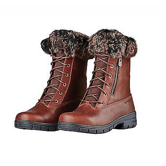 Dublin Bourne botas impermeables con cordones para mujer - marrón rojo
