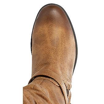 White Mountain Womens Layton Leather Almond Toe Mid-Calf Fashion Boots