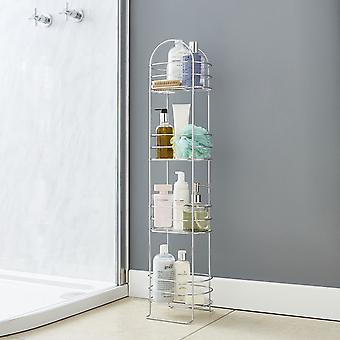 Free Standing Bathroom Rack Stand Chrome Plaqué