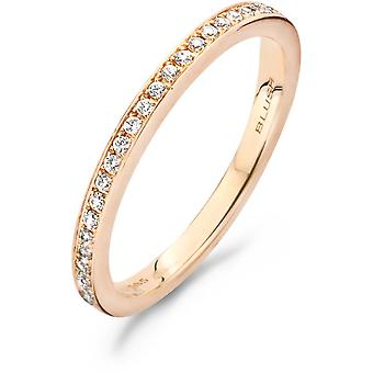 Ring Blush 11199RZI - Pink gold ring and zirconium oxides set grains 1/9mm Women
