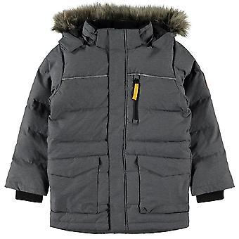 Name-it Boys winter coat NKMMANSON Down Dark Grey Melange