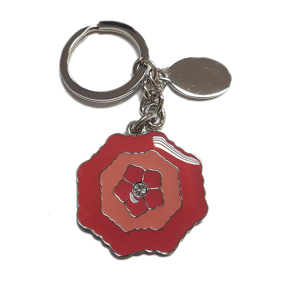 Silver Options Silver Plated Roses Keyring