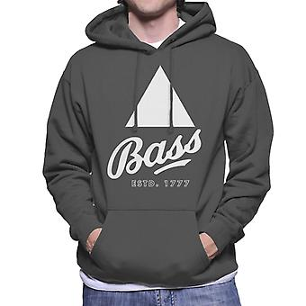 Bass Estd 1777 Black Triangle Men's Hooded Sweatshirt
