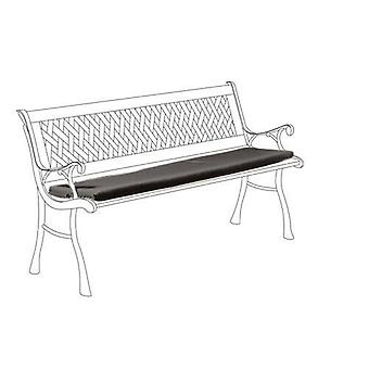 Black Outdoor Waterproof Cushion Pad for 2 Seater Metal Garden Bench Furniture