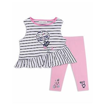 The Essential One Girls Ellie Mouse Nautical Top And Legging Set