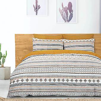 Moroccan Tiles Mustard Bedding Set