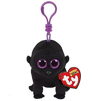 TY Beanie Boo Clip George the Black Gorilla