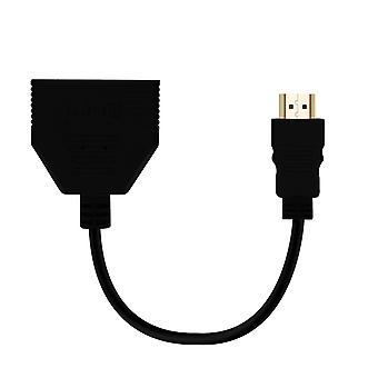 HDMI Multiport Adapter Male to 2x HDMI Ports LinQ Full HD Female Black