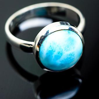 Larimar Ring Size 11 (925 Sterling Silver) - Bijoux Boho Vintage ring994080 faits à la main