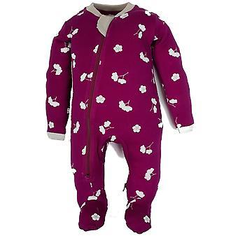 ZippyJamz Organic Baby Footed Sleeper Pajamas w. Inseam Zipper for Easy Changing