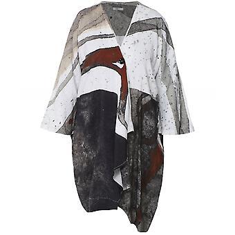 Crea Concept pellava sekoitus poimutettu takki