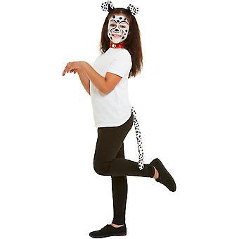 Lasten meikki setti Dalmatian koiran kanssa koiran hiukset kypsä, koiran tawash ja meikki kynät karnevaali lisä varuste