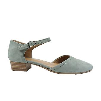 Tamaris 24210 Green Suede Leather Womens Summer Shoes