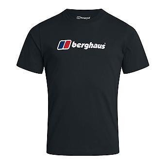 Berghaus Big Corporate Logo Herren Kurzarm Outdoor T-Shirt T-Shirt schwarz