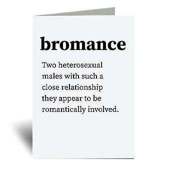 Bromance Urban Dictionary A6 Greeting Card