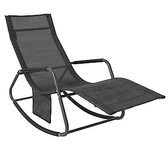SoBuy OGS47-MS, Rocking Chair Relaxing Chair Recliner Sun Lounger