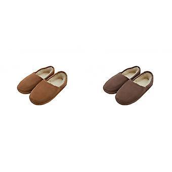 Oostelijke counties lederen heren Dominic wol-Blend slippers