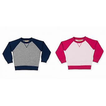 Larkwood Baby Unisex Contrast Raglan Sweatshirt