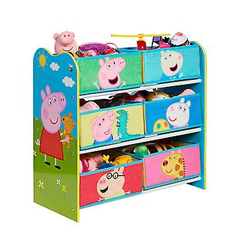 Peppa Pig 6 Bin Storage Unit