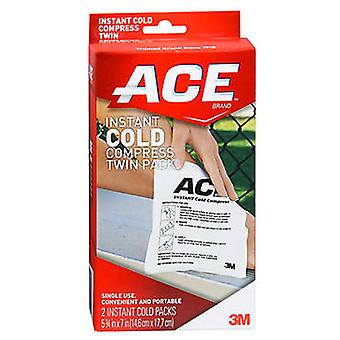 3m ace brand instant cold compress, twin pack, single use, 1 ea