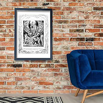 William Blake - Life of William Blake (1880) plate 5 Poster Print Giclee