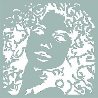 Pronty Mask stencil Silhuett kvinna 470.801.047 15x15cm