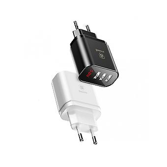 Charger 3 Usb With Fast Charge Display 3.4a Max Baseus