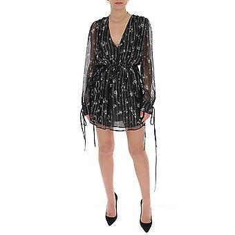 Amiri Y0w08241lcblack Women's Black Cotton Dress